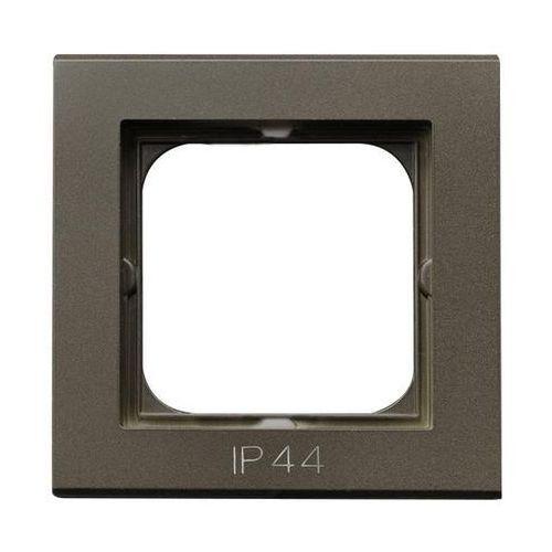 Ospel Ramka pojedyncza sonata rh-1r/40 pozioma i pionowa ip44 czekoladowy metalik (5907577449063)