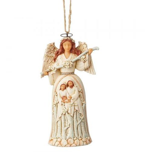 Zawieszka biały anioł szopka white woodland nativity angel (hanging ornament) 6004176 figurka ozdoba świąteczna marki Jim shore