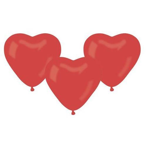 Baloniki czerwone serca - 25 cm - 50 szt.