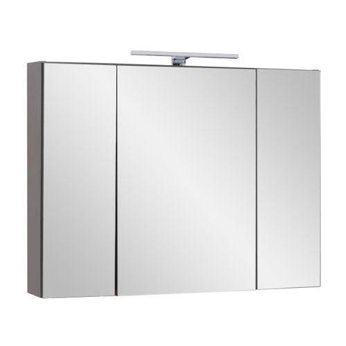 Szafka lustrzana z oświetleniem Natur 80 cm biały / grafit (5907798017065)