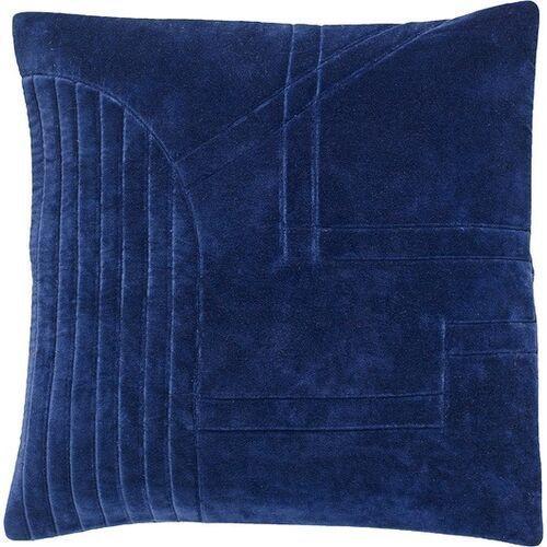 Hübsch Poduszka 50 x 50 cm niebieska welurowa