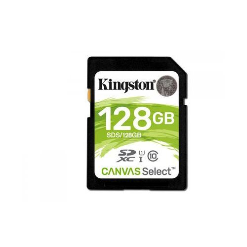 Kingston sdhc 128gb canvas select 80r class 10 uhs-i (sds/128g)