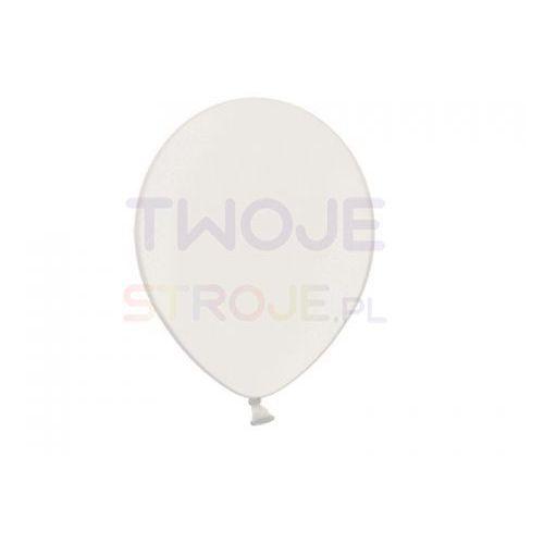 Twojestroje.pl Balon lateksowy metallic biały 30 cm 1 szt.