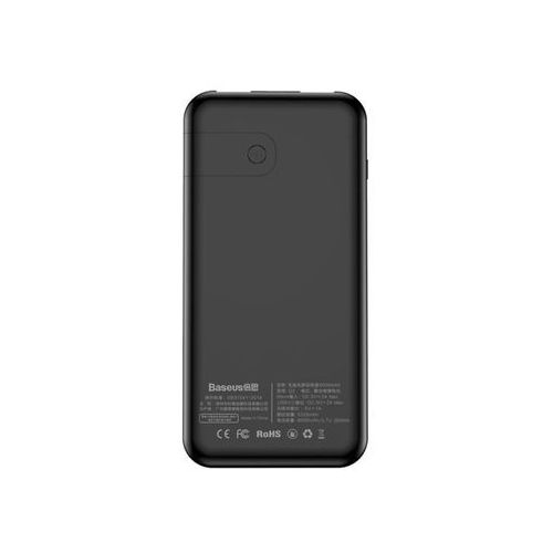 8074378c01e532 Baseus Power bank 8000mAh 3.7V ładowarka QI 2x USB czarny - Czarny, 70C1-