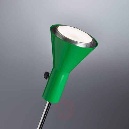 Tecnolumen Zielona lampa stojąca led gru, ściemniana