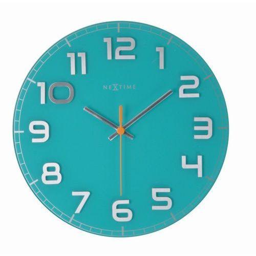 NeXtime - zegar ścienny Classy 30 cm - turkusowy