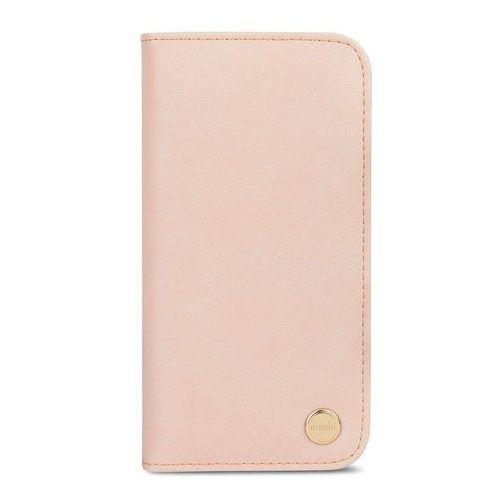 overture - etui iphone x z kieszeniami na karty + stand up (luna pink) marki Moshi