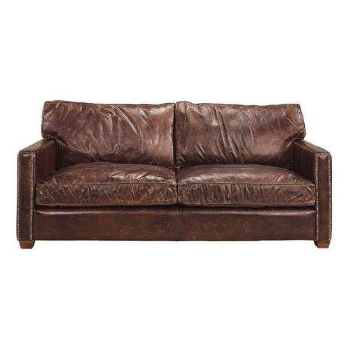 Dekoria sofa 2-osbowa clayton skórzana, 182 × 100 × 89 cm