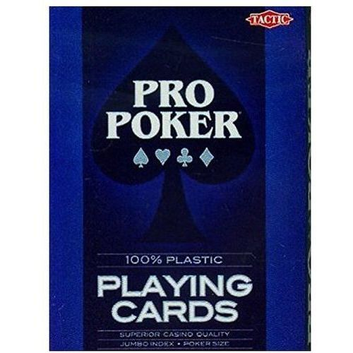 Tactic Karty do gry - pro poker 100% plastic
