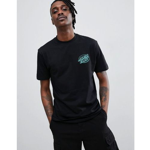 Santa Cruz Oval Dot t-shirt in black - Black, kolor czarny
