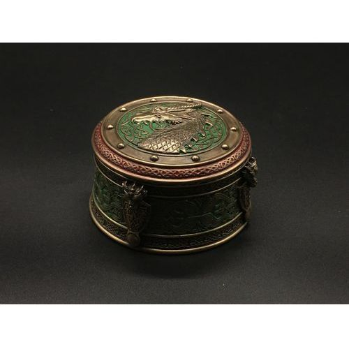 Celtycka szkatułka ze smokiem wu77386a4 marki Veronese