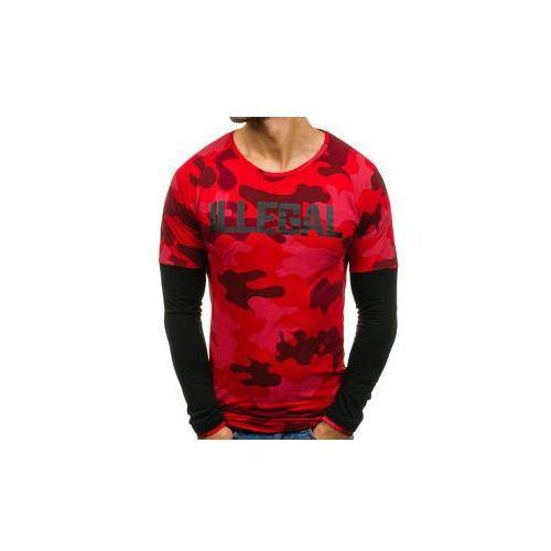 Longsleeve męski czerwony denley 1162 marki Athletic