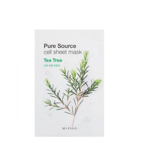 MISSHA Pure Source Sheet Mask Tea Tree maseczka z drzewa herbacianego - 21 ml, MISMA260