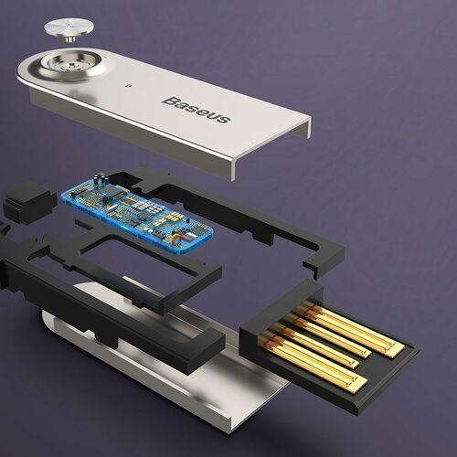 Baseus BA01 odbiornik dźwięku Bluetooth 5.0 kabel USB adapter audio AUX jack czarny (CABA01-01), 49476 (11901844)