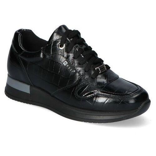 Sneakersy Nessi 20771 Czarne coco 4 lico, kolor czarny
