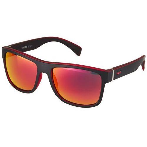 Uvex lgl 21 okulary rowerowe czerwony/czarny 2019 okulary przeciwsłoneczne (4043197261379)