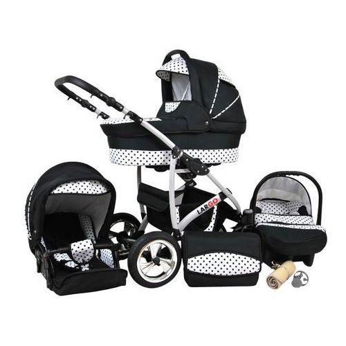 wózek wielofunkcyjny largo 3w1, czarne kropki marki Sun baby