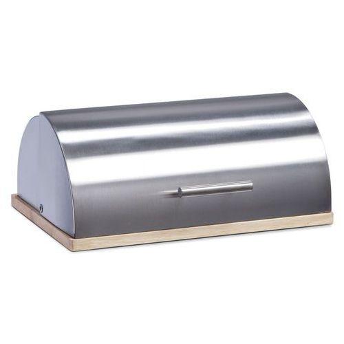 Zeller Metalowy chlebak na drewnianej podstawie, (4003368204758)