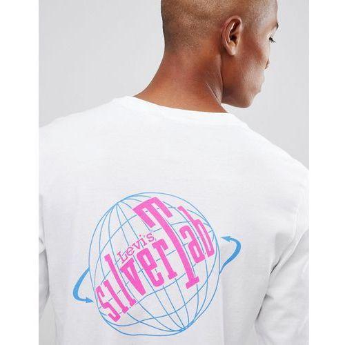 Levi's SILVERTAB Logo Long Sleeve T-Shirt with Arm Print - White, 1 rozmiar