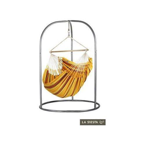 La siesta Zestaw hamakowy: leżak hamakowy currambera ze stojakiem romano, pomarańczowy cul21roa16