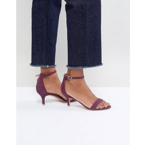 burgundy barely there kitten heeled sandals - red marki Glamorous