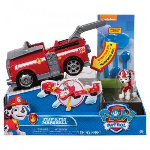 Psi patrol, flip and fly pojazd z figurka, marshall - darmowa dostawa od 199 zł!!! marki Spin master