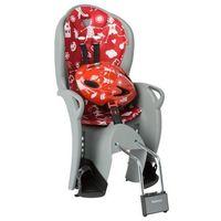 fotelik rowerowy kiss szaro-czerwony + kask marki Hamax