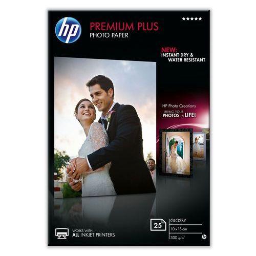 HP Papier fotograficzny Premium Plus, błyszczący – 25 arkuszy/10 x 15 cm