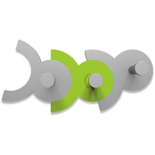 Calleadesign Wieszak ścienny diennea zielony, aluminiowy (13-014-76)