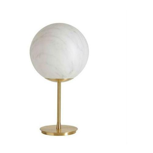 MINERAL-Lampa stojąca efekt marmuru Polietylen/Mosiądz Wys.55cm