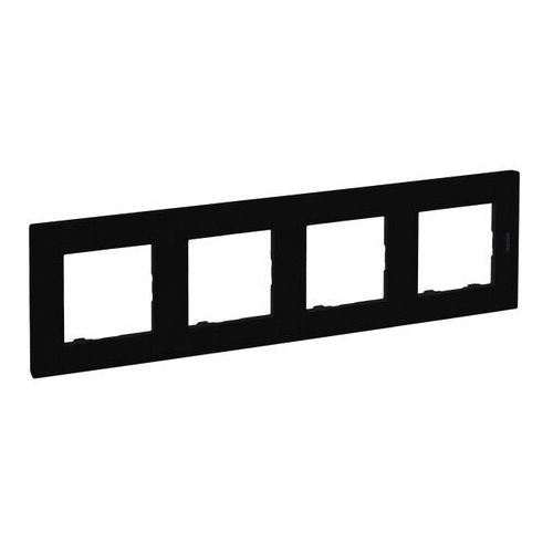 Legrand Ramka poczwórna niloe step czarna (3414971843462)