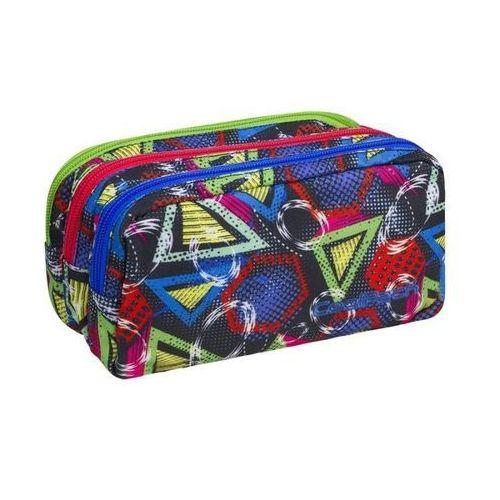 Coolpack piórnik saszetka trzykomorowa geometric shapes cp - szybka wysyłka - 100% zadowolenia. sprawdź już dziś! marki Patio
