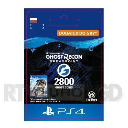 Sony Tom clancy's ghost recon: breakpoint 2800 ghost coins [kod aktywacyjny] ps4