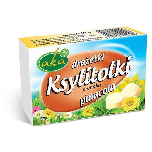 Pinacola (ananas-kokos) drażetki pudrowe ksylitolki bez cukru 40 g marki Aka