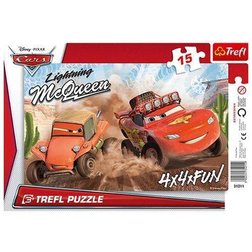 Puzzle  ramkowe auta wyścig na pustyni 31211 (15 elementów) marki Trefl