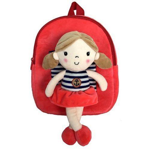 Plecak z odpinaną lalką - czerwony
