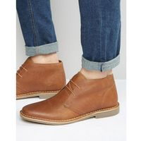 desert boots in tan leather - tan marki Red tape