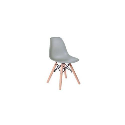 Krzesło Monza Kids - małe krzesełko dla dziecka w kolorze szarym, kolor szary