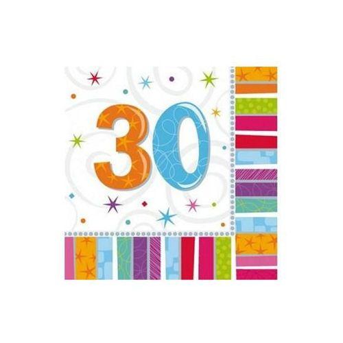 Serwetki urodzinowe na trzydzieste urodziny - 30tka - 33 x 33 cm - 16 szt.
