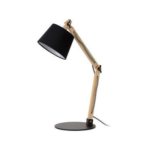 Lucide olly lampa stołowa czarny, brązowy, 1-punktowy - klasyczny - obszar wewnętrzny - olly - czas dostawy: od 4-8 dni roboczych