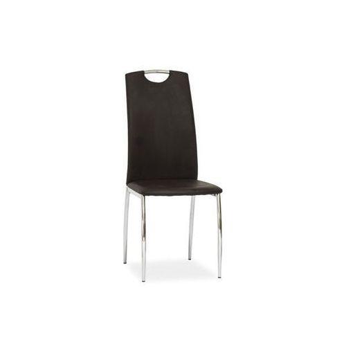 Nowoczesne krzesło h-622 brown marki Signal