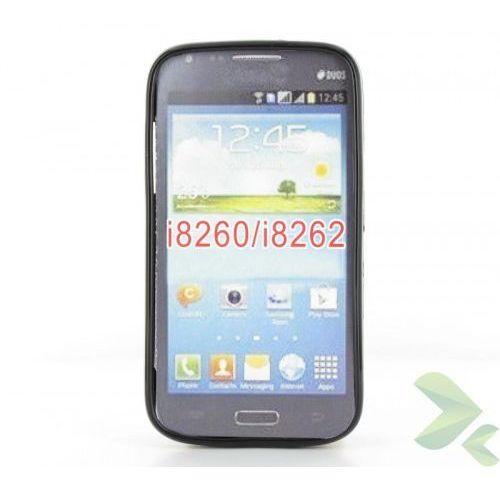 Geffy - Etui Samsung Galaxy Core i8260 TPU solid color black, kolor czarny