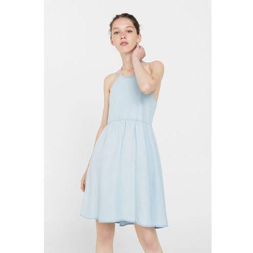 Mango - Sukienka, kolor niebieski