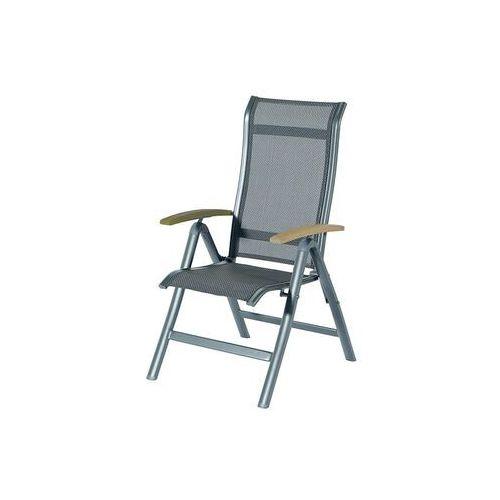 Krzesło ogrodowe w kolorze xerix/antracit | Alice | podłokietniki z drewna tekowego