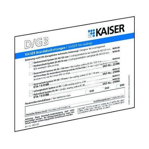 Kaiser elektro Etykieta identyfikacyjna uszczelnienia