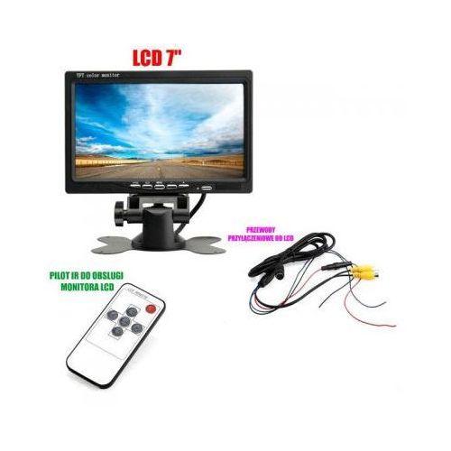 """Samochodowy Monitor LCD 7"""", do Kamery Cofania, DVD, GPS... + Stojak + Kieszeń + Pilot..., 590777341568764"""