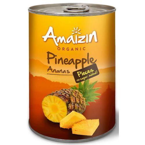 Amaizin (mleko kokosowe, tortilla, chipsy, inne) Ananas kawałki w soku własnym bio 400 g amaizin (8717496904317)