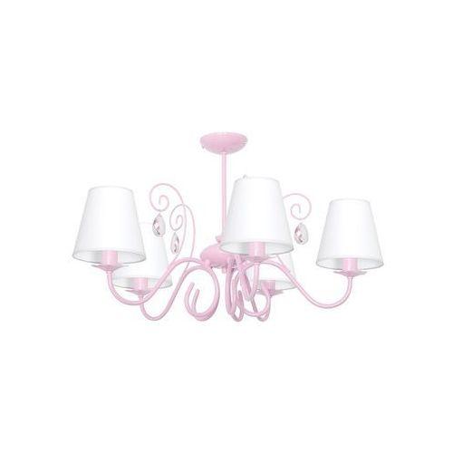 Decoland Dziecięca lampa wisząca laura 5xe14/60w/230v jasnoróżowa (5907565979466)