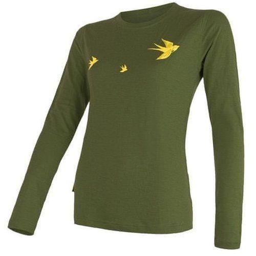 Sensor merino active pt swallow women's t-shirt long sleeves zielony xl 2018-2019 (8592837047324)