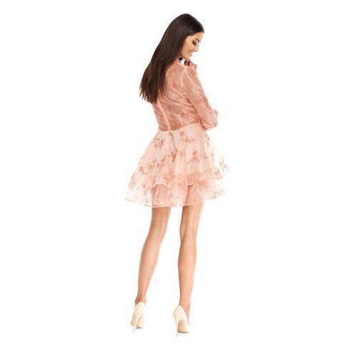 Sukienka Amelie w kolorze brzoskwiniowym, kolor pomarańczowy